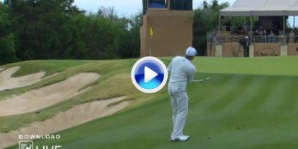 ¿Será por clase? Sergio García jugó con maestría con las caídas del 17 en Texas ¡Vaya chip! (VÍDEO)
