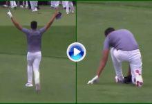 Finau hace Hoyo en Uno en los pares 3 de Augusta y se lesiona uno de sus tobillos celebrándolo (VÍDEO)