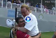 La divertida y cariñosa felicitación de Olazábal a su amigo Jiménez tras ganar su primer Grande (VÍDEO)