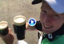 Dunne y Moynihan celebraron la victoria con una Guinness, como buenos irlandeses que son (VÍDEO)