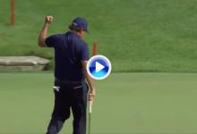 Lefty levantó al público con su último truco: jugó contra una piedra para llevarla a green (VÍDEO)