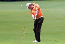 Miguel Ángel Jiménez peleará por su 2º Grande en 7 días. Es cuarto en el Senior PGA Championship
