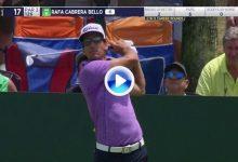 Cabrera-Bello se luce en la isla del 17, el canario dejó la bola a un metro con este golpazo (VÍDEO)