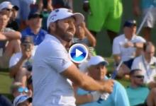¡Sergio, engullido por el 17! El español se fue con doblebogey tras mandar la bola al agua (VÍDEO)