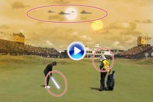 Que el Golf te acompañe. The Open convierte los palos en espadas láser Star Wars y más… (VÍDEO)