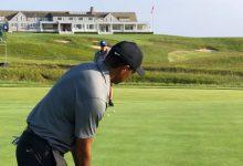 El primero de la clase: Tiger acude a Shinnecock Hills con LaCava para probar la sede del US Open