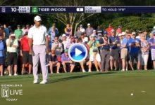 El putt fue la cruz de Tiger en el Wells Fargo. Woods se desesperó en los greenes de Charlotte (VÍDEO)