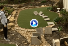 ¡A 15 bandas! Este golfista incluye su candidatura a mejor truco de 2018 con un gran golpe (VÍDEO)