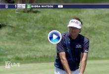 El Golf es duro… El palo rechazó la bola de Bubba ¡Vaya cara se le quedó al zurdo de Bagdad! (VÍDEO)
