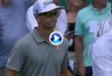 Adam Scott se quedó muy cerca del Hoyo en Uno en la bandera más complicada del domingo (VÍDEO)