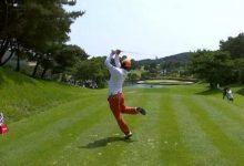 Pero, ¿y este swing? Un pro surcoreano saltó al estrellato en las RRSS gracias a su juego (VÍDEOS)