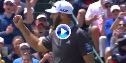 DJ, el Extraterrestre, embocó un putt desde su casa ante la atenta mirada de Tiger Woods (VÍDEO)