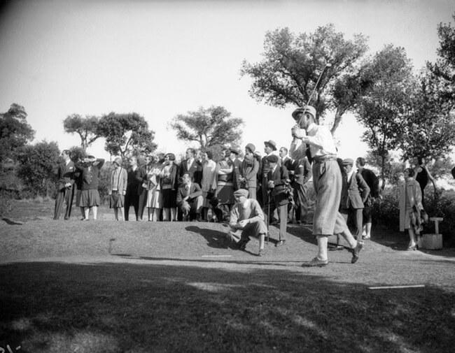 El francés Eugene Laffite durante el Open de España de 1928 celebrado en el RC de Puerta de Hierro de Madrid