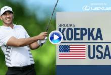 Los líderes, a por todas. Koepka, Berger y Finau, autores de los golpes de la 3ª j. del US Open (VÍDEO)