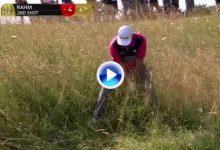 Rahm también saca el puño haciendo pares. Sobre todo si lo salva desde el durísimo rough (VÍDEO)