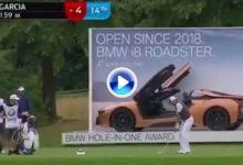 Sergio García se quedó muy cerca del Hoyo en Uno en el BMW con este golpazo desde 159 mts. (VÍDEO)