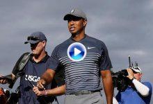 El triplebogey del 1 marcó la vuelta de Tiger. 78 golpes en Shinnecock resumidos en solo 2′ (VÍDEO)