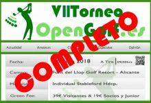 Un año más el Torneo OpenGolf cuelga el cartel de completo a las 48 horas de abrir las inscripciones