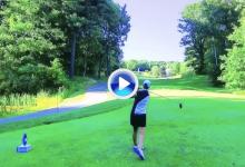 El Golf es duro: Recari dio un golpe al aire en el tee en el pasado Thornberry Creek de la LPGA (VÍDEO)