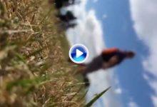 El fan que fue golpeado por la bola errante de Tiger en Carnoustie grabó todo el accidente (VÍDEO)