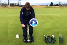 De greenkeepers: De esta forma se cambia, y se pinta, un hoyo en los greenes de The Open (VÍDEO)