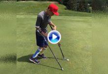 Ejemplo de superación: Se llama Ethan Olson tiene 14 años, parálisis cerebral y juega al golf (VÍDEO)