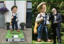 Una estatua de Oor Wullie, el cómic de leyenda escocés, protagonista esta semana en Carnoustie