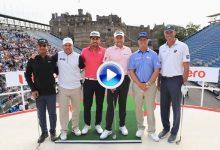 Kuchar supera a Hoffman en el Hero Challenge, exhibición ante el castillo de Edimburgo (VÍDEO)