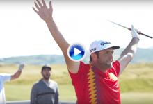 La fiebre del mundial llega al Golf. Jon se enfrentó al reto de golpear el larguero desde 137m. (VÍDEO)