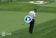 ¡Por los pelos! Kyle Stanley estuvo muy cerca de no impactar a la bola desde el rough (VÍDEO)