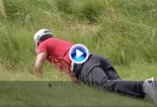 Pavon se jugó el tipo para recuperar un trozo de hierba con el que reparar una chuleta (VÍDEO)