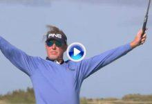 Jiménez deja a todos con la boca abierta en el Old Course con este golpe y su celebración (VÍDEO)