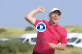 ¡Aquí está Rory! McIlroy enciende el Open con un putt kilométrico para eagle y es colíder (VÍDEO)