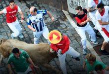 Peligroso y rápido, así fue el quinto encierro de San Fermín con los astifinos de Nuñez del Cuvillo