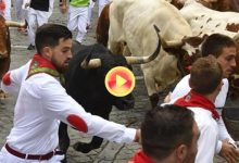 Los Jandilla dejan 7 heridos, uno de ellos por asta de toro, en el 7º encierro de San Fermín '18 (VÍDEO)