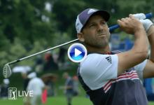 ¡Qué gran approach! Sergio rozó el eagle con un dardo certero desde casi 100 metros (VÍDEO)