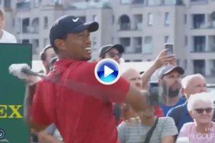 ¡Noo, ¿Que estás haciendo?! Exclamó Tiger después de que un fan le gritara durante el swing (VÍDEO)