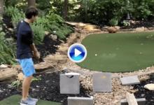 Garrett Clark vuelve a la carga con otro Trick Shot soberbio: chip y golpe a banda con un tiro (VÍDEO)