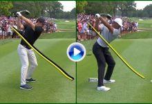 Vea y compare el swing a cámara lenta entre Rory McIlroy y Tiger Woods en el US PGA Champ. (VÍDEO)