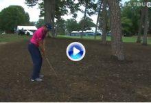 Este golpe, entre los árboles, fue el principio del fin para García en los PlayOff de la FedEx Cup (VÍDEO)