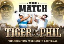 ¡Ya es oficial! Mickelson y Tiger se las verán en un 1vs1 el fin de semana de Acción de Gracias