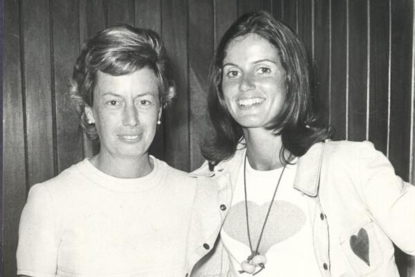 Villacieros y Marsans en el Cto. de España Dobles de 1972. Foto: RFEG