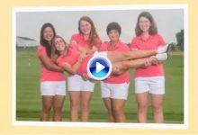 Este es el maravilloso «vídeoboard» con el que las compañeras de Celia Barquín le rinden tributo