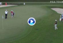 El Golf es duro… Molinari intentó el Flop Shot de Lefty, ante Lefty, pero se quedó algo corto (VÍDEO)