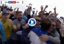 ¡Grande, Kiko! Molinari puso el broche de oro a su Ryder dándole a Europa el punto 14,5 (VÍDEO)