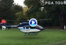 El Champions echa mano de un helicóptero para secar los greenes del Sanford tras la lluvia (VÍDEO)