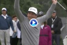 Parecía que no… ¡pero cayó! La gravedad jugó a favor de Bradley en este putt para birdie (VÍDEO)