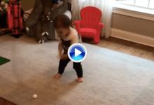 Con apenas 22 meses el pequeño Luca demuestra que ha nacido con un gran swing natural (VÍDEO)