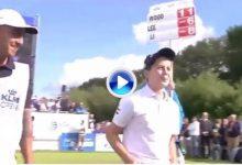 Mattias Henke (12 años) lo volvió a hacer. Por 2º año dejó la bola más cerca que los «Pros» (VÍDEO)