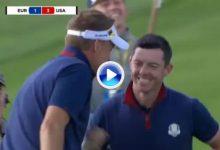 Con este increíble golpe de Rory casi desde el agua, Europa se ponía tres arriba a falta de cinco (VÍDEO)